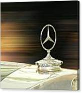 Mercedes Hood Ornament Canvas Print