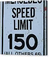 Mercedes Speed Limit 150 Canvas Print