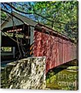 Mercers Mill Covered Bridge Canvas Print