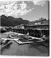 Merchants Wharf In Black And White Canvas Print