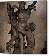 Mercury Carrying Eurydice To The Underworld Canvas Print