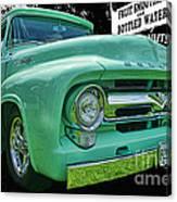 Mercury Truck Bw Background Canvas Print