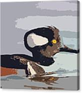 Merganser Reflections Canvas Print