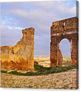 Merinid Tombs Ruins In Fes In Morocco Canvas Print