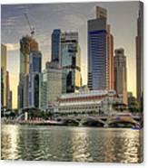 Merlion Park In Singapore 3 Canvas Print