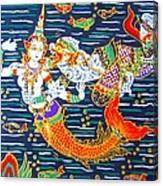Mermaid And Beast  Canvas Print