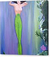 Mermaid And Treasure Chest  Canvas Print