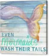 Mermaid Bath II Canvas Print