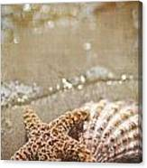 Mermaid Kisses And Starfish Wishes Canvas Print
