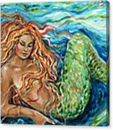 Mermaid Sleep New Canvas Print