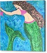 Mermaid With Star Fish  Canvas Print