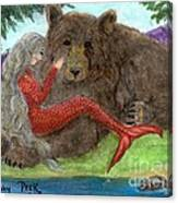 Mermaids Bear Cathy Peek Fantasy Art Canvas Print