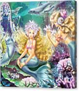 Mermaids Mirror Canvas Print