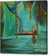 Mermaids Relaxing Evening Canvas Print