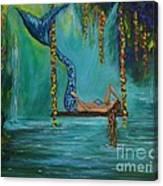 Mermaids Relaxing Morning Canvas Print