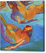 Mermaids Swimming Canvas Print