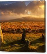 Merrivale Stone Rows Canvas Print