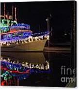 Merry Christmas Bandon By The Sea 2 Canvas Print