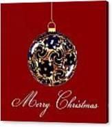 Merry Christmas Bauble Canvas Print