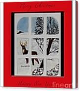 Merry Christmas Deer Canvas Print