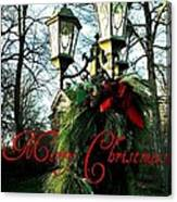 Merry Christmas Greeting Card Canvas Print