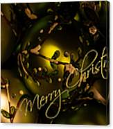 Merry Christmas Greeting Canvas Print