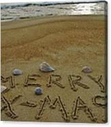 Merry Christmas Sand Art 1 12/25 Canvas Print