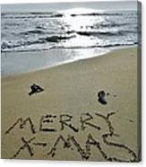 Merry Christmas Sand Art 5 12/25 Canvas Print