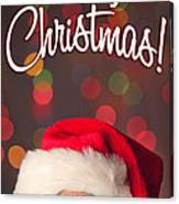 Merry Christmas Santa Card Canvas Print