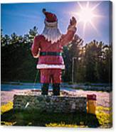 Merry Christmas Santa Claus Greeting Card Canvas Print