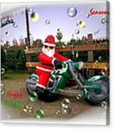 Merry Christmas  Seasons Greetings  Happy New Year Canvas Print