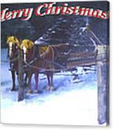 Merry Christmas Sleigh Canvas Print