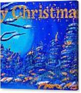 Merry Christmas Wish V2 Canvas Print