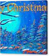 Merry Christmas Wish V3 Canvas Print
