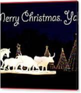 Merry Christmas Ya'll Canvas Print