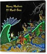 Merry Maskers Of Mardi Gras Canvas Print