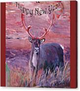 Merry Xmas And Happy New Year Canvas Print