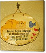 Message Of Love Canvas Print