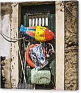 Messy Door Canvas Print