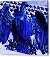 Metal American Eagle Symbol Canvas Print