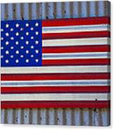 Metal American Flag Canvas Print