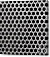 Metal Grill Dot Pattern Canvas Print