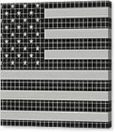 Metal Mesh Usa Flag Canvas Print