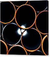 Metal Pipes Canvas Print
