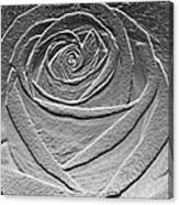 Metal Rose Canvas Print