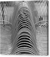 Metal Strips In Black And White Canvas Print