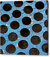 Metal Texture Round Canvas Print