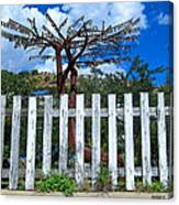 Metal Art Tree Bisbee Canvas Print