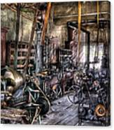 Metal Worker - Belts And Pullies Canvas Print
