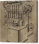 Metal Working Machine Patent Canvas Print
